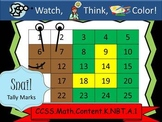 Snail Tally Marks - Beginning Watch, Think, Color! CCSS.K.NBT.A.1