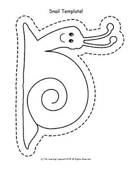 snail template by the learning cupboard teachers pay teachers