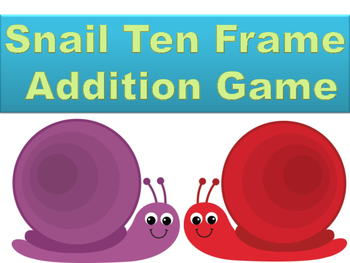 Snail Ten Frame Addition Game