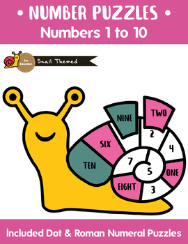 Snail Themed - Number Puzzles [ Number 1- 10 ]