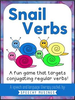 Snail Verbs - For Regular Verbs
