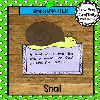 Garden Snail Writing Cut and Paste Craftivity
