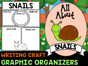 Snails : Graphic Organizers and Writing Craft Set : Mollusks, Insects and Bugs