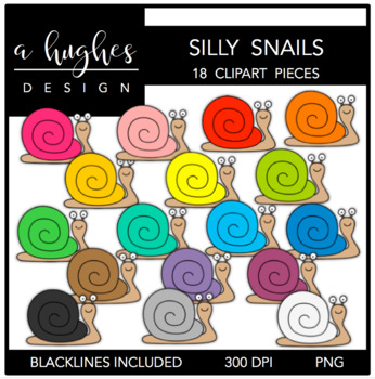 Silly Snails Clipart {A Hughes Design}