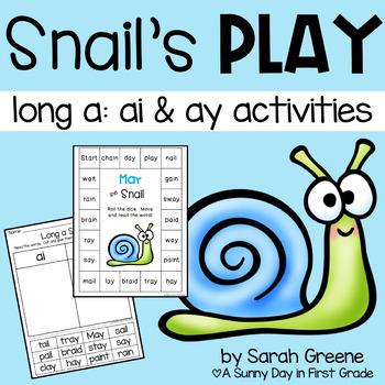 Snail's Play {long a: ai & ay pack!}