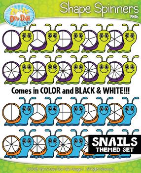 Snails Spinner Shapes Clipart {Zip-A-Dee-Doo-Dah Designs}