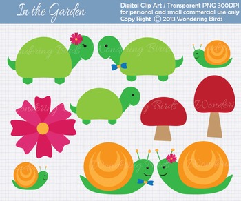 Snails and Turtles  clip art - set of 10 clip arts