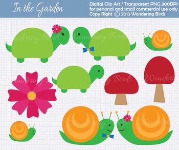 Snails and Turtles  clip art - set of 10 clip arts