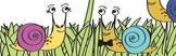 Snails with Personality Clip Art Flowers Grass
