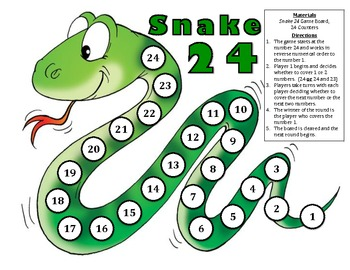 Snake 24 - A 2-Player Game of Strategy to Practice Logical Reasoning
