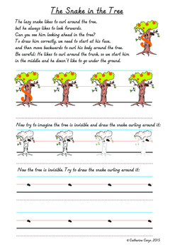 "Snake Activities - Worksheets to Develop the ""s"" Curve for Handwriting"