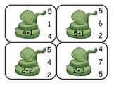 Snake Addition Clip Cards