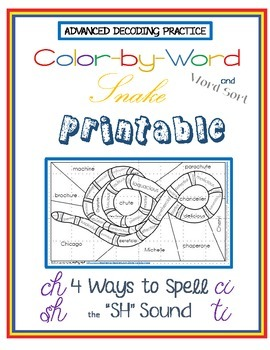 "Advanced Decoding: ""Color by Number"" Snake Printable 5 Way"