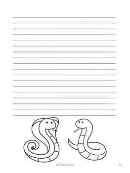 Snake Writing Paper