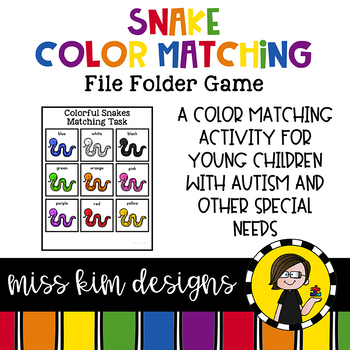Snake Color Matching Folder Game for students with Autism