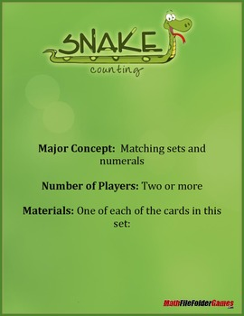 Snake Counting Math Game