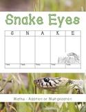 Snake Eyes – Math Game