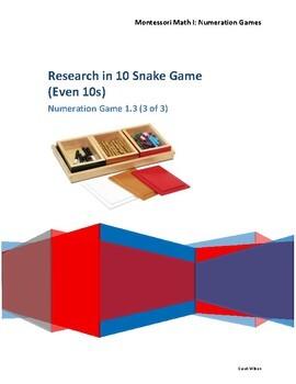 Snake Game Montessori Find 10 Numeration Command Cards Presentation Lesson Plan