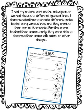 Snake Lines Activity