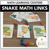 Snake Link Math Activity | Math Centers Preschool | Math Games