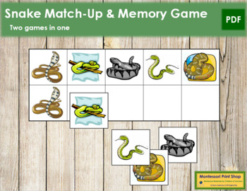Snake Match-Up and Memory