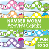 Number Worm Cards - Counting / Number/ Math Center Cards