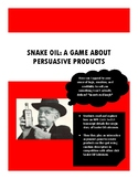 Snake Oil Persuasive Product Game