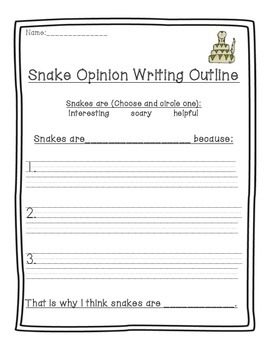 Snake Opinion Writing!