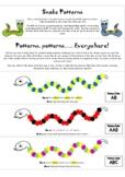 Snake Patterns (Kindergarten Math)