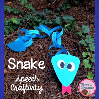 Snake Speech Therapy Craftivity {language & articulation craft}