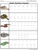 Snake Spotters Write / Stamp the Room Activity Pack