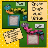 Snake Write and Craft, Boy and Girl!