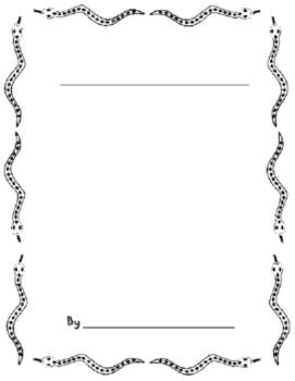 Snake Writing Book