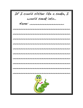Snake Writing Prompt