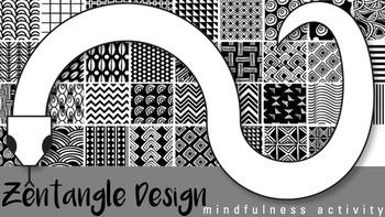 Snake Zentangle Design