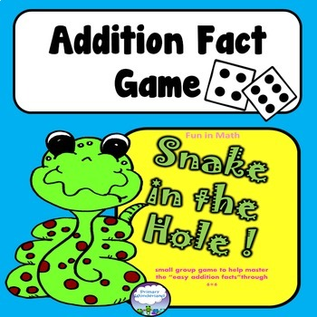 Addition Facts Game for Math Center