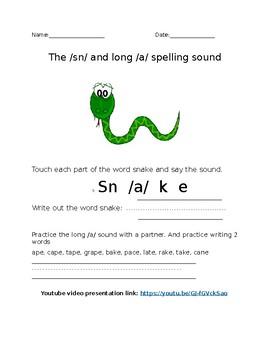 Snake worksheet