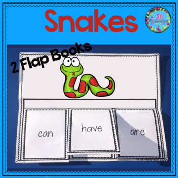Snakes Writing Flap Books and Fast Facts Graphic Organizers!