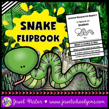 Snake Science Activities (Snake Research Flipbook)