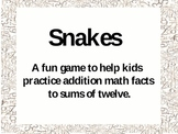 Snakes! A Fun Game to Practice Math Facts to Twelve