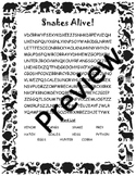 Snakes Alive! Wordsearch