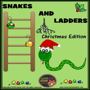Christmas - Snakes and Ladders Activity
