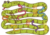 Snakes & Ladders Blank Board Game - ideal to use with flashcards
