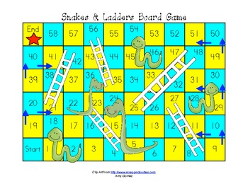 snakes and ladders template pdf - snakes ladders board game by amy gomez teachers pay