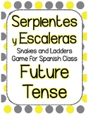 Snakes & Ladders Board Game, Future Tense Spanish