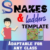 Snakes & Ladders Board Game Template for any class!!