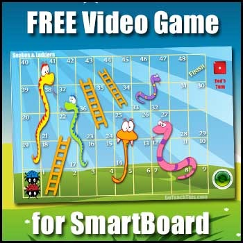Snakes & Ladders (FREE) - Printable Math, Literacy & Smartboard Version