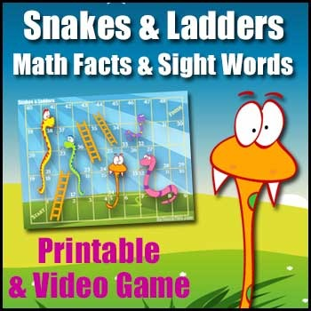 Snakes & Ladders (FREE) - Printable Math, Literacy & Smart