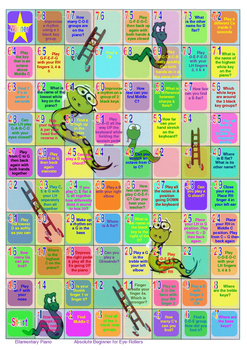Snakes & Ladders Piano Game - Absolute Beginner for Eye-Rollers & Older Students