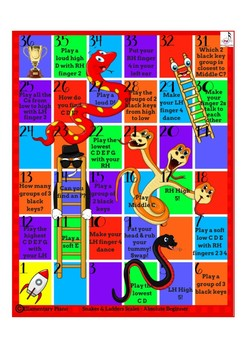 Snakes & Ladders Piano Game - For Absolute Beginners